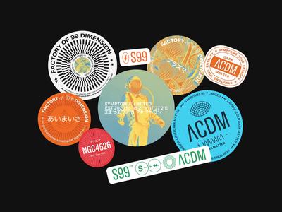 Symptoms 99 2020 Stickers vector stickers typography logo branding illustration minimal layout flat clean design