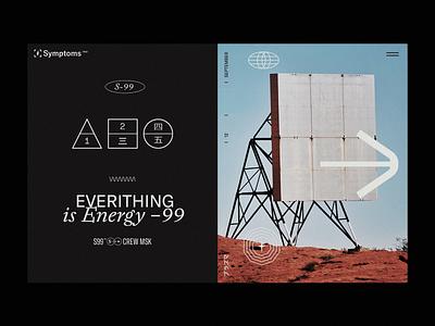 E.IS.E 2020 branding typogaphy web grid slider concept page minimal ux layout flat clean design ui