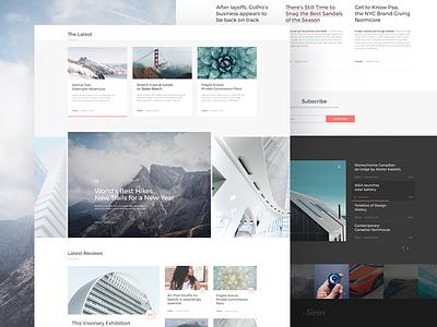 "Free Sketch ""The Siren"" Wordpress Blog&Magazine wordpress ui psd player page magazine layout free flat design clean blog"