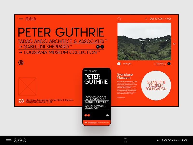 ABC Museum ✹ Mag portfolio site portfolio ux art museum architecture page concept minimal flat design clean ui