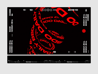 BBDO Daily identity ✦✸ webgl animation text brutalism minimal page layout ux flat clean design ui