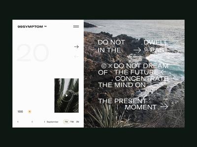 99Symptom Sides ui whitespace website web typogaphy slider simple modern minimal layout interaction header grid design clean