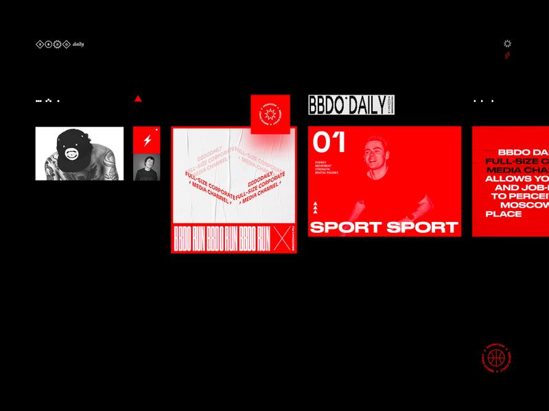 BBDODAILY Branding grid ux interface graphicdesign branding minimal layout flat clean design ui