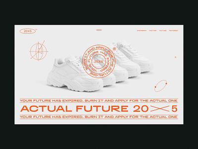 Actual Future x 20 desktop ecommerce slider branding typogaphy minimal page ux layout flat clean design ui