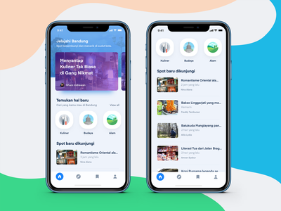 GoBandung App Concept vector ux app store ux design design android app ui  ux design ui  ux ui