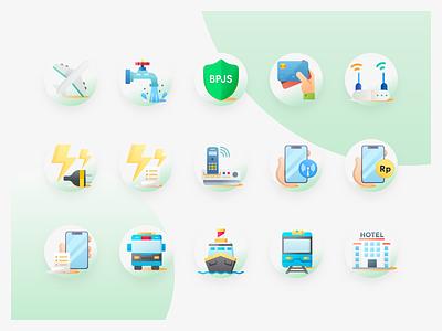 Virtual Product Icon Pack icon vector logo illustration ux ux design android app ui  ux design ui  ux ui