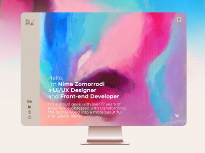Nima Zomorrodi Personal website UI/UX redesign