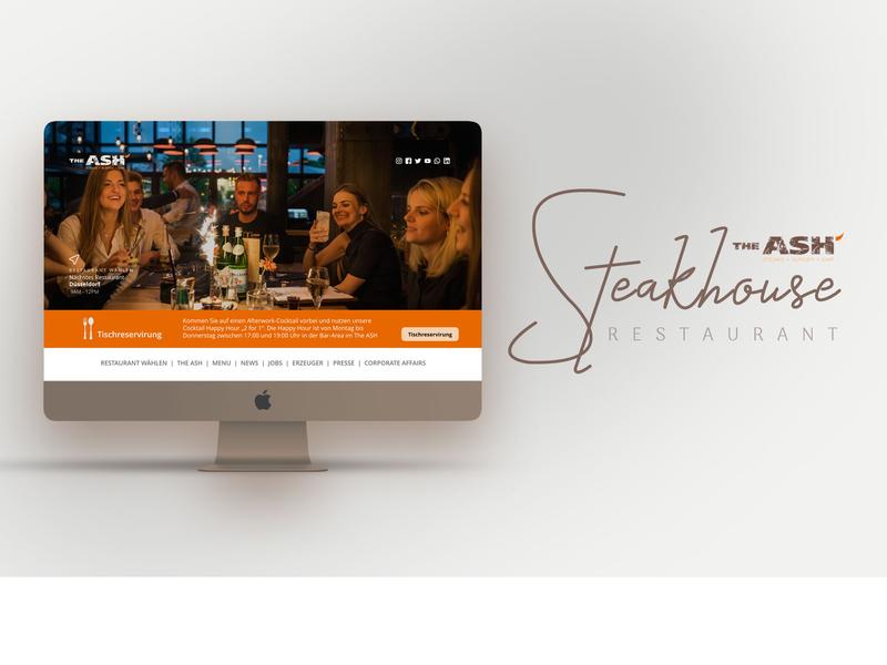 ASH Steak House - Website bootstrap4 restaurant business design mobile ui adobe xd 2019 ui trend