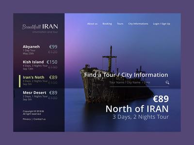 Beautiful Iran Tourism Web Site