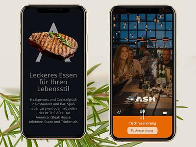 Ash Steakhouse mobile website trend ui 2019 adobe xd mobile ui design business restaurant bootstrap4