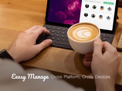 Student Management Web Application ui uiux student teacher class ui design user interface trend 2019 adobe xd business bootstrap4