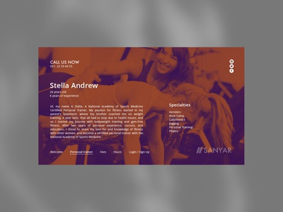 Sport Gym web site design