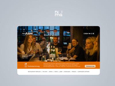 ASH Steak House - Website branding restaurant designer ui design mobile ui bootstrap4 design uiux 2019 trend ui adobe xd