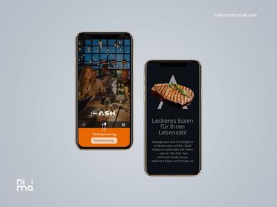 ASH Steak House - Mobile version adobe xd ui trend 2019 uiux design bootstrap4 mobile ui ui design designer restaurant branding