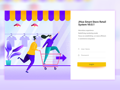 Smart store retail system login page