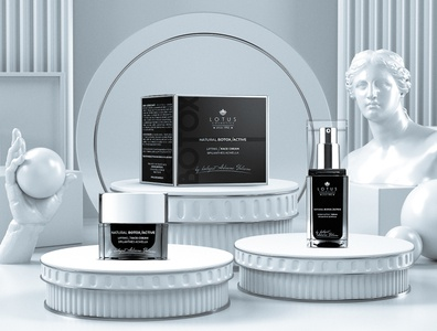 Lotus Cosmetics | Natural Botox Active design cosmetics packagingdesign graphicdesign printdesign