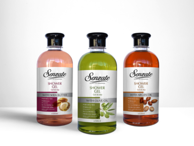 Senzate Spa Packaging Design sheabutter labels oliveoil arganoil cosmeticlabels cosmetics packagindesign
