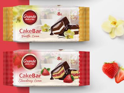 Vanilla, Chocolate, Strawberry CakeBar cookie packagingdesign logo graphicdesign printdesign branding design