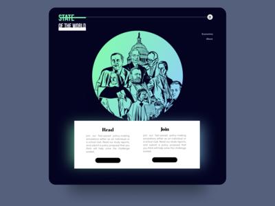 College Club & Newspaper Website website web vector illustration ui design