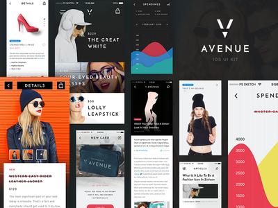 V Avenue: 100 Mobile App Templates