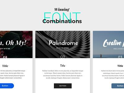 Winning Font Combinations freebie combination font pixelbuddha google free