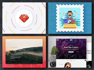 Launch Booster Kit Templates showcase blogger blog banner template social psd pixelbuddha mockup media kit booster
