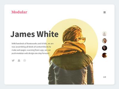 Modular Team Block typography ui toolbox set modular kit designer team