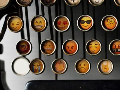 Emoji keyboard copywriter machine type keyboard typography copywriting copy design post tutorial article blog thedesignest emoji