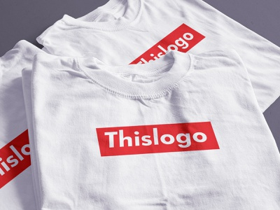 This logo art t shirt tee design futura concept branding box red logo supreme article post blog the designest