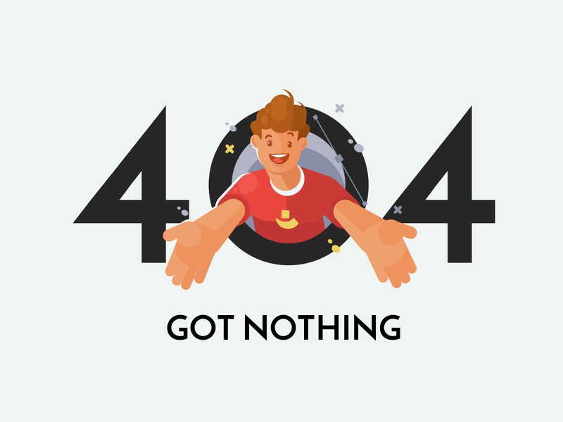 User-oriented up to the 404 page pixelbuddha person mascot illustration art ui ux design web message page 404 error thedesignest