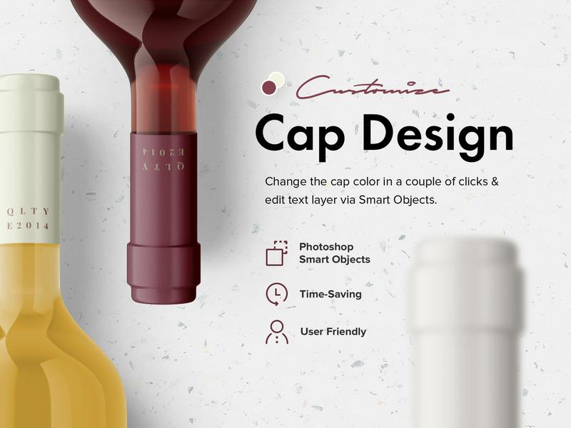 Wine Bottles Mockup Set wine bottle template scene wine cap mockup psd product pixelbuddha photoshop package box mockup design box
