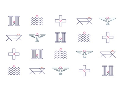 Gospel of Luke illustration pattern concept