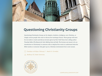 Questioning Christianity Poster