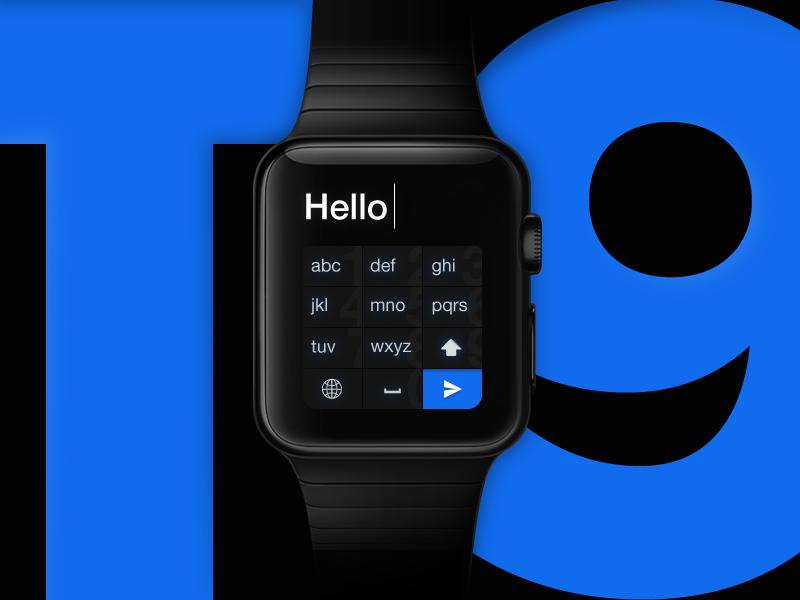 Apple Watch Keyboard sms messaging screen t9 ux ui concept keyboard watch apple