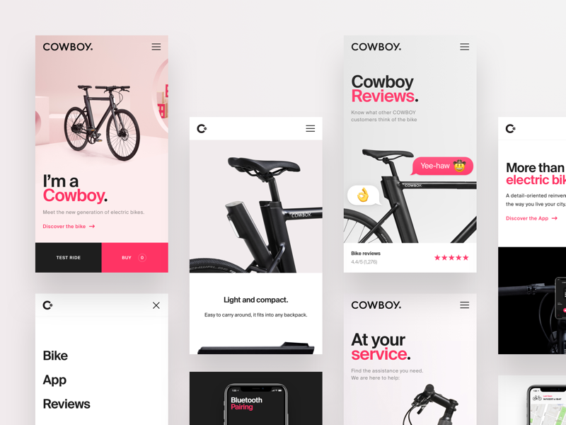 Cowboy Mobile Website by Marco Coppeto for ueno.