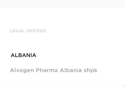 Alvogen - Mobile website pharmaceutical pharma ux ui landing page home mobile corporate