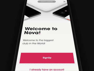 Nova App - Onboarding app mobile process feed sign design animation motion interaction flow onboarding ux ui