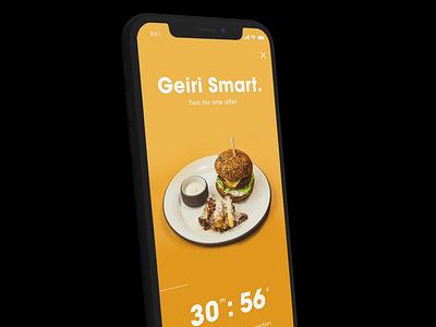 Nova App - 2 for 1 promotion list 3d countdown restaurant offer promo motion mobile app ux ui