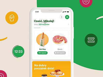 Żappka - mobile app loading loader interaction design ux ui application retail animation loyalty mobile app