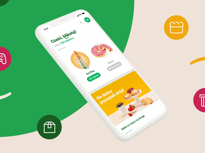 Żappka - Points and Coupons animation motion ux ui fidelity offers points barcode code coupon program loyalty app mobile