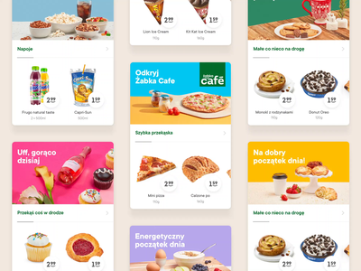 Żappka - Photography Art Direction deals offers price setup colors ui app mobile motion animation food cards photography