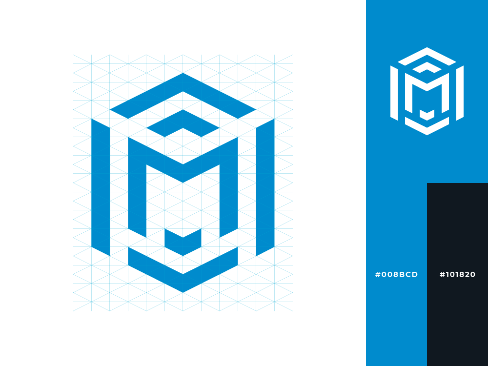 Moisés Rodríguez | Personal Brand design logotype concept professional personal m hexagon exploration branding brand logo blue inspiration creative