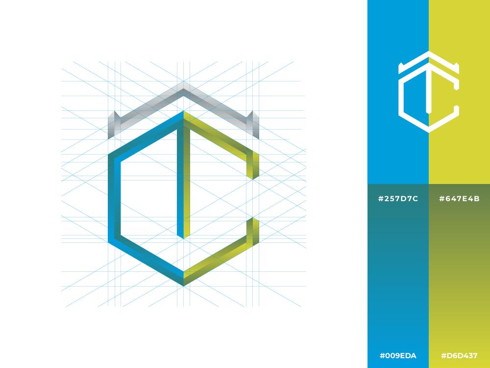 TC   Logo personal esport gradient crown tc c t hexagon professional logotype concept logo inspiration exploration design creative branding brand