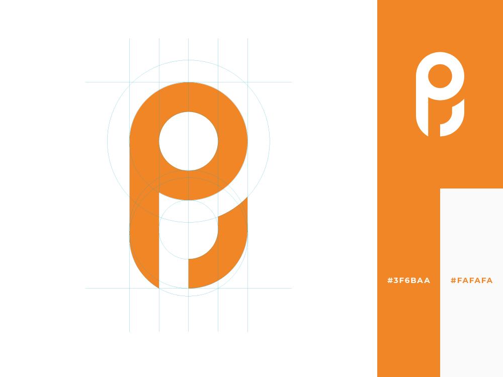 Punto Cero   Logo dot point zero logotype concept profesional orange marketing logo inspiration exploration design creative branding brand p