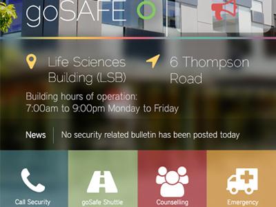 York GoSafe App york university gosafe redesign ios