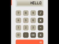 Calculator  ui calculator flat minimal orange