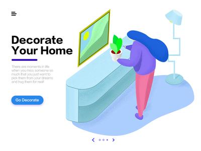 home decoration WEB Illustration Design
