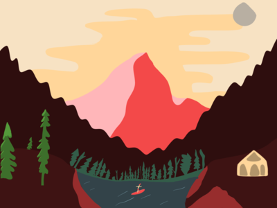 Surfing in the mountains