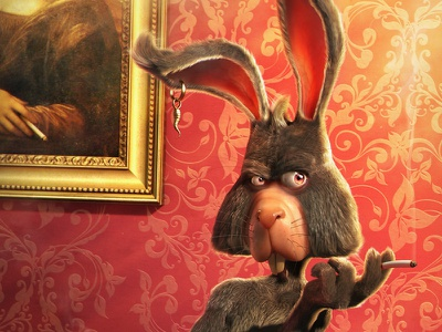 Le Rabbit rabbit smoking illustration 3d character cartoon animal modeling artist mascot jose alves silva da josé