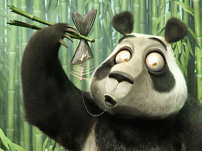 A Break from Bamboo artist cartoon modeling panda animal illustration 3d jose josé alves da silva mascot character